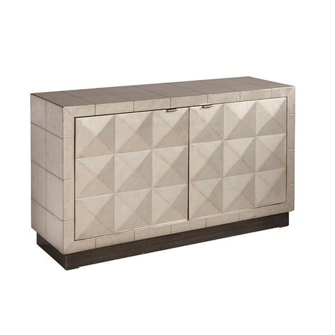 Small Space Two Door Silver Accent Chest