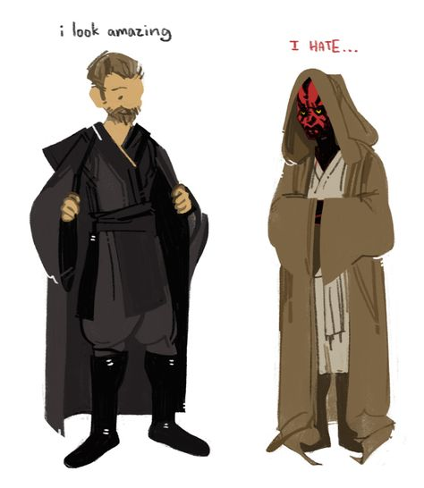 jedi and sith clothing switch Star Wars Clone Wars, Star Wars Art, Star Trek, Star Wars Books, Wolf, Counting Stars, Comic Drawing, Darth Maul, Star Wars Humor