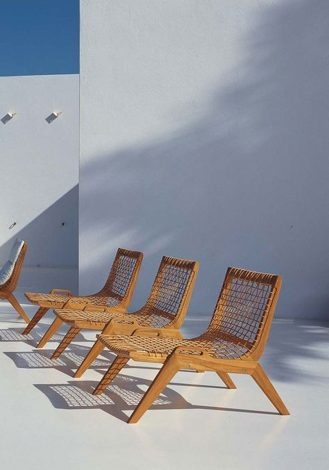 Sedie Da Giardino Unopiu.Synthesis Lounge Armchair In Teak And Waprolace Unopiu Unopiu