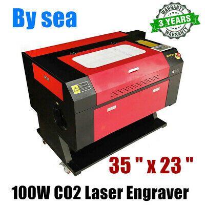 35 X 23 100w Co2 Laser Engraver And Cutter Machine Ebay In 2020 Co2 Laser Laser Cutter Engraver Laser Engraving Machine