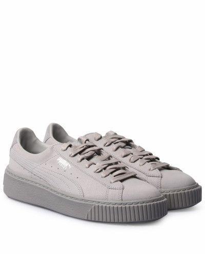 Puma Damen Sneakers Basket Platform Reset Grau #Basket