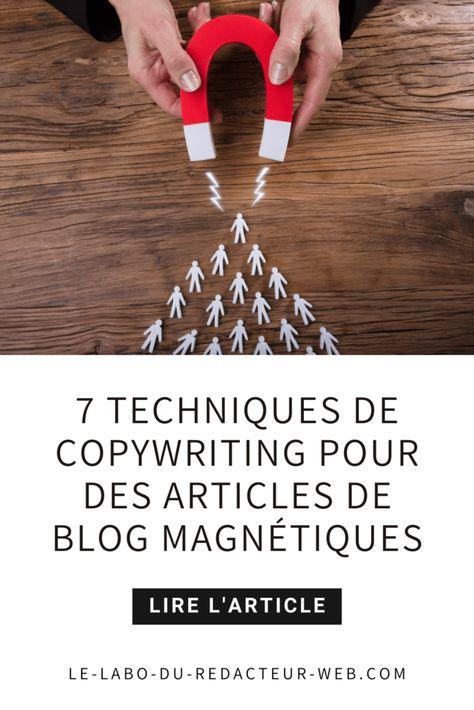 ▷ 7 techniques de copywriting pour des articles de blog magnétiques