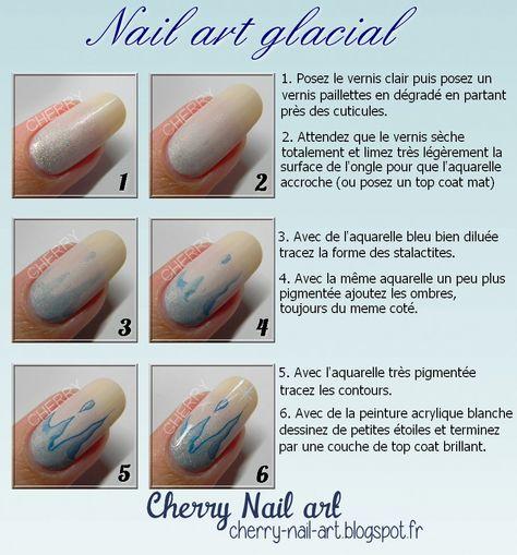 Nail Art Stalactite A L Aquarelle Pas A Pas Avec Images Nail