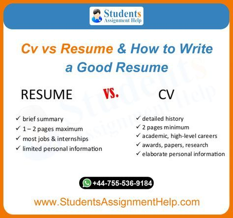 Know The Difference Between Cv And Resume Writing And Learn How To Write A Good Resume From Our Professional Assignment Writ Good Cv Resume Resume Writing