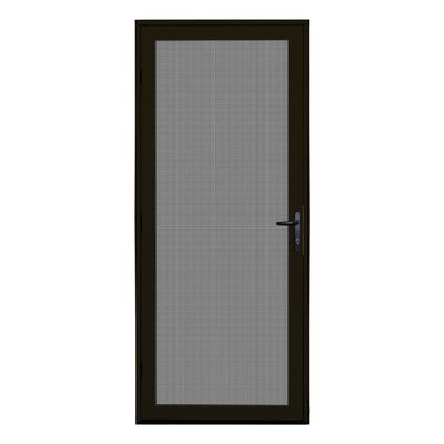 Titan Security Doors Meshtec Single Surface Mount Ultimate Security Screen Door Finish Bronze Door Siz Screen Door Security Screen Door Aluminum Screen Doors