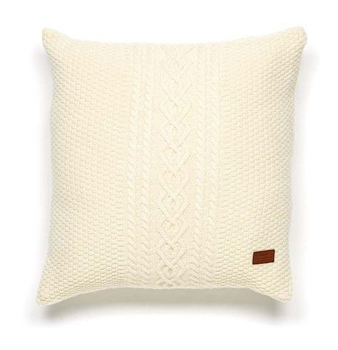 Gant Fisherman Knit Kissenbezug 50 X 50 Cm Offwhite