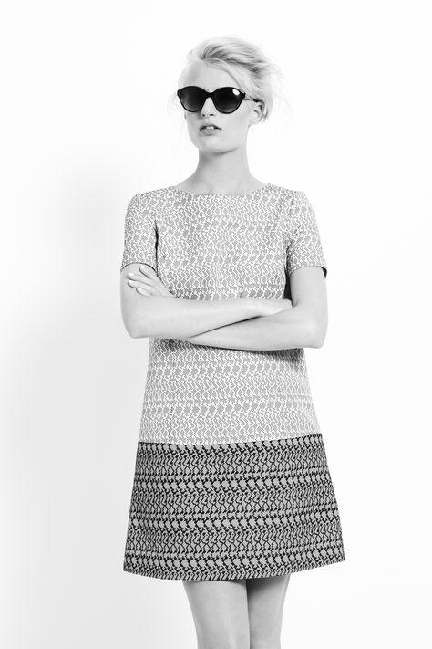 #BestofBritish Jacquard Dot Shift Dress with Silk #SS14