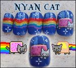 Win!! Nyan Cat Nails