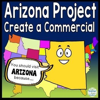 Arizona Project Make A Commercial Poster Arizona Research Activity Happy Students Social Studies Resources Ela Activities
