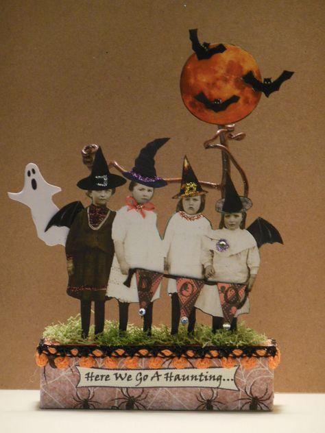 Altered Art Fairy Halloween Original Mixed Media Collage Paper Pixie Witch   eBay