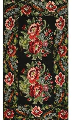 Bloomsbury Market Traditional Black Green Red Area Rug Area Rugs Red Area Rug Witchy Decor