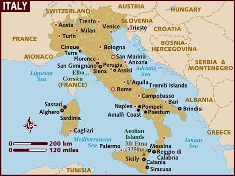 Mapa Da Italia Com Cidades Conheca As Regioes Da Italia Mapa