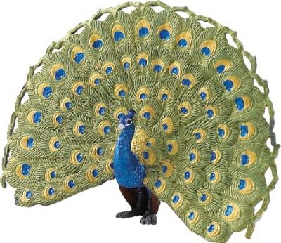 Toy Peacock Figure at theBIGzoo.com, an animal-themed superstore.