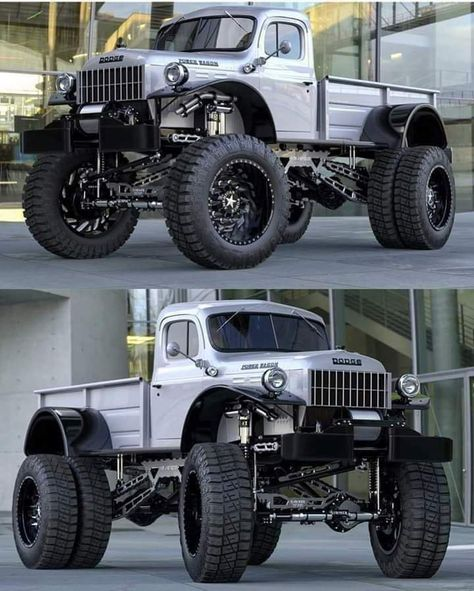Dodge Power Wagon is the King of Trucks. Handcrafted at Legacy Classic Trucks, the Dodge Power Wagon Conversion is the truck for the serious collector. Dodge Pickup, Dodge Cummins, Old Dodge Trucks, Jacked Up Trucks, Diesel Trucks, Custom Trucks, Ford Trucks, Pickup Trucks, Dodge Diesel