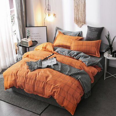 Orange Bedding Duvet Covers, Gray And Orange Bedding