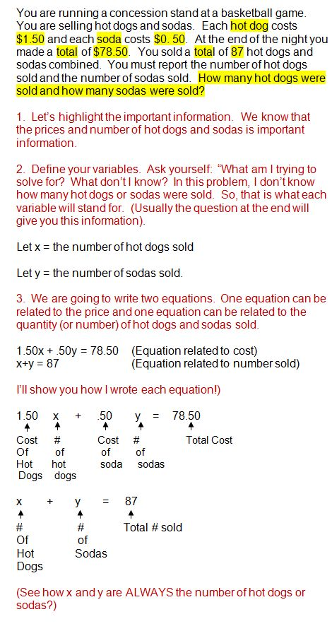 Solving Systems Of Equations Real World Problems Math Word Problems Systems Of Equations Word Problems