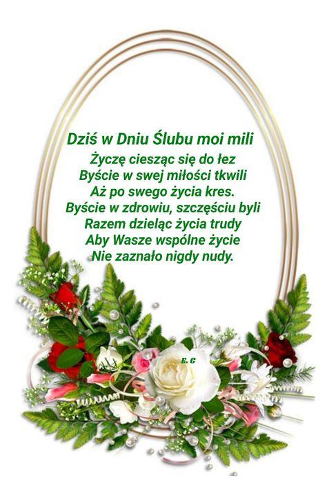 Pin Na Rocznica Slubu Zyczenia Slubne
