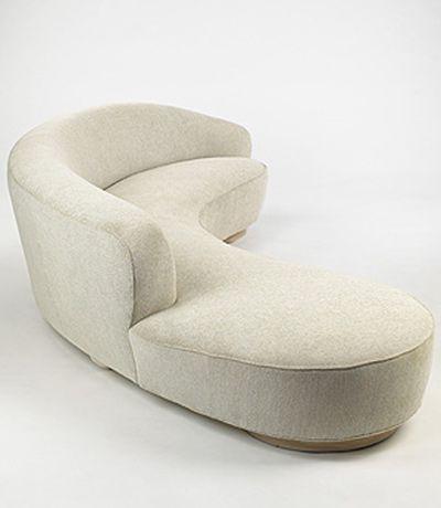 Vladimir Kagan   Free Form Curved Sofa W/Arm #GISSLER #interiordesign