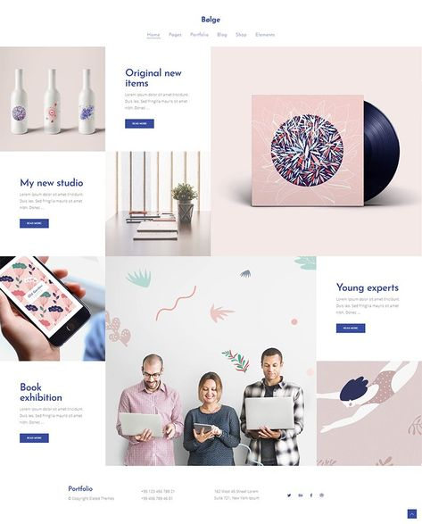 Bolge Artist Designer Portfolio Theme Freelance
