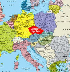 Where Is Czech Republic Located On The World Map Google Search - World map in czech language