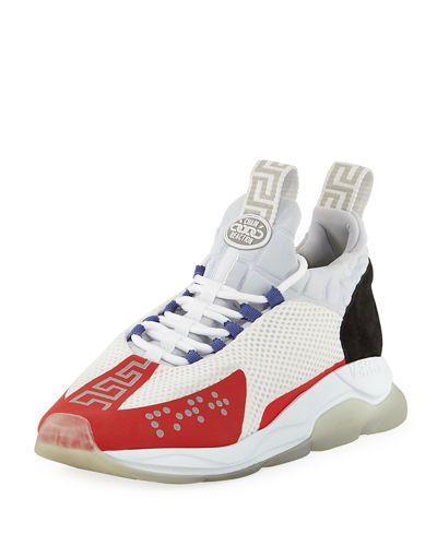 Versace Neoprene Cross Chainer Sneakers