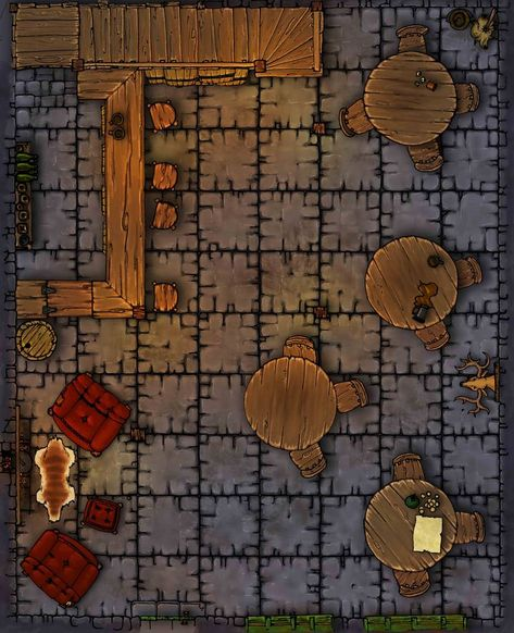 dungeons and dragons Homebrewing Dungeons and Dragons - Tiled Tavern Map by Mike-Perrotta on DeviantArt