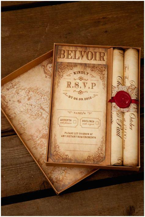Montecristo Scroll Wedding Invitation » Truly Madly Dottie Blog