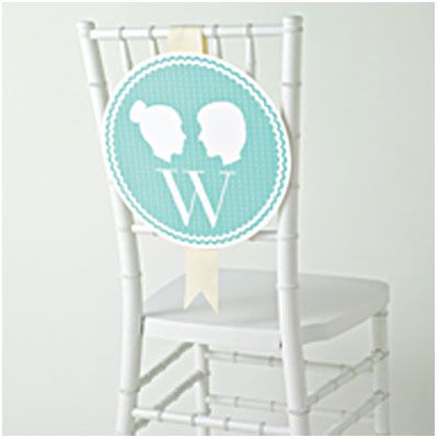 Reception Chair Labels - Free PDF Printable in 3 Colorways and all alphabet letters.