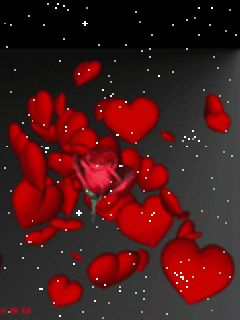 Download hearts and rose 240 X 320 Wallpapers - red hearts and red rose | mobile9