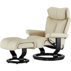 Stressless Relaxsessel Mit Hocker Creme 8211 Leder Magic M Creme Masse Cm B 81 H 111 T 77 Stre In 2020 Leather Armchair Armchair Double Bed Linen