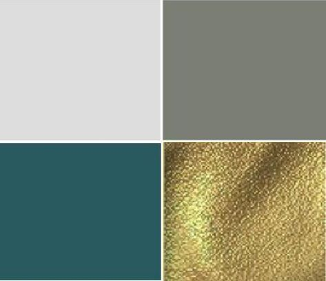 Color scheme for new office/guest room - Dark teal, charcoal gray, gold accents. I would definitely replace the gold with ROSE gold!
