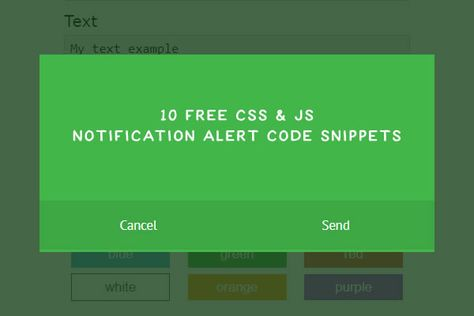 10 Free CSS & JS Notification Alert Code Snippets for Web Designers