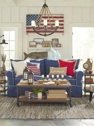 12 Graceful Americana Living Room Decor In 2021 Americana Living Rooms Hamptons Style Living Room Americana Home Decor