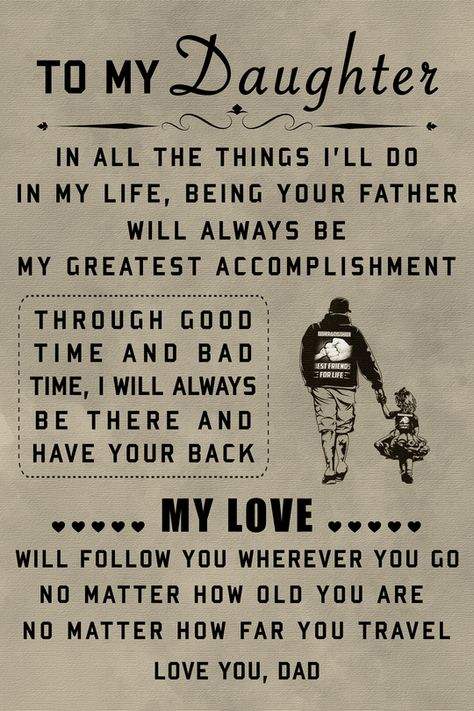 (cv45) family Poster - to my daughter