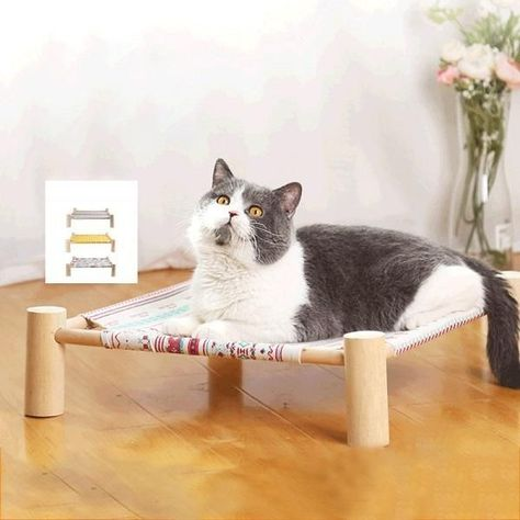 Katzenhangematte Vier Eck Katzenstreu Abnehmbare Katzenhangematte Liefert Pet Pad Hanging Bed Tiere En 2020 Ing
