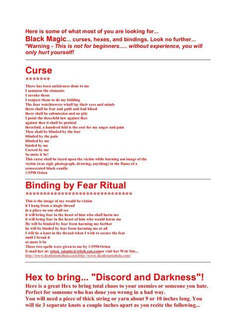 Black magic curses & spells