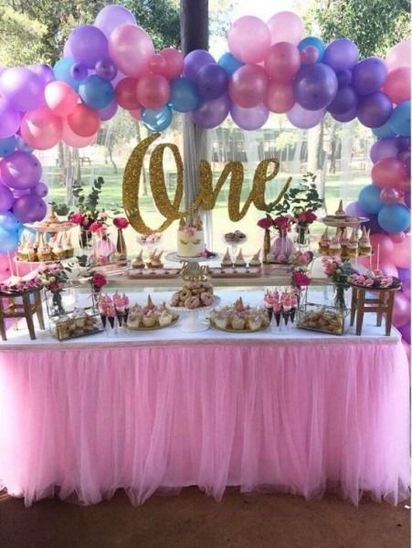 Baby Girl 1st Birthday Decoration Ideas Party Partyidea First