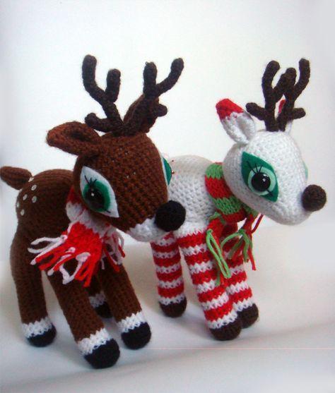 Amigurumies! #christmas #reindeer #amigurumi #crochet