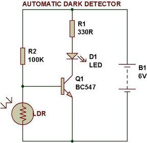 Dark Light Sensor Using Transistor Build Circuit Electronic Circuit Projects Electronic Schematics Light Sensor