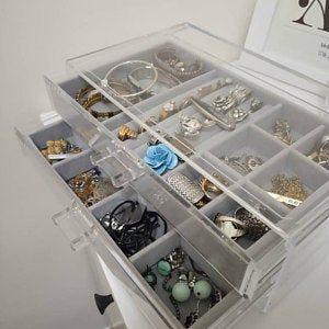 Big Jewelry Organizer Jewelry Drawers Ring Box Velvet Tray Etsy Jewelry Drawer Makeup Storage Box Jewelry Tray Organizer