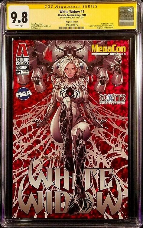 Lenticular A B C Absolute Comics Group White Widow #3 Main Cover Foil