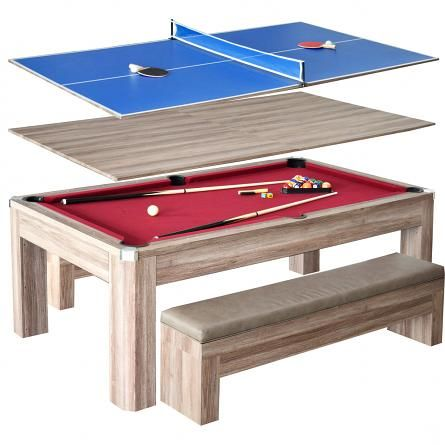 Newport 7 Ft Pool Table Combo Set W Benches Pool Table Dining Table Pool Table Outdoor Pool Table Pool table ping pong table combo
