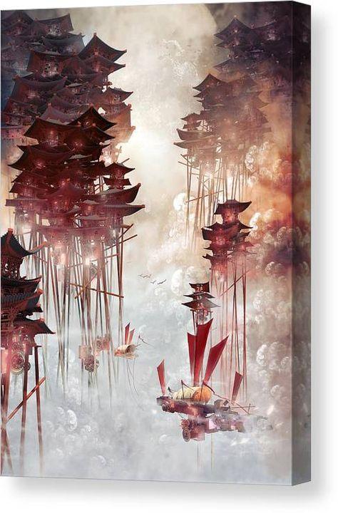Moon Palace Canvas Print