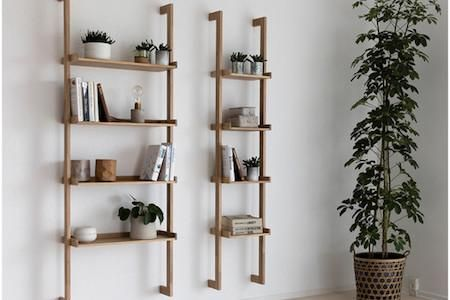 Ladder Shelves Wall Bookshelves Shelf Decor Bedroom Shelving