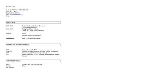 Exemple Cv Etudiant Terminale S Cv étudiant Exemple Cv Et