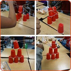Cup Stacking Collaboration Challenge