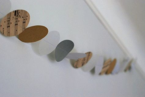 garland - you can use craft paper, recycle book paper, folders, etc. Love it.