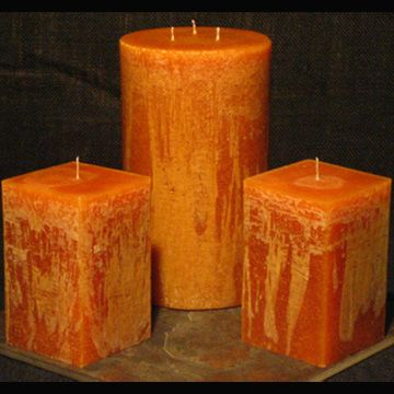 6 Inch Wide Gold Rush Candle They Make Great Patio Candles For