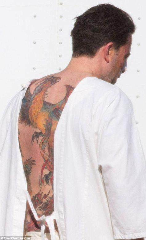Ben Affleck Finally Addressed His Elaborate Phoenix Back Tattoo Addressed Affleck Ben E Andalusien Kalifornien Reiten