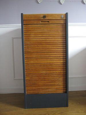 meuble classeur a rideau ancien